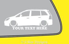 2x LOW YOUR TEXT Vauxhall Zafira B VXROpel OPC zafira B outline sticker 190