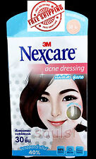 Nexcare ACNE Hydrocolloid DRESSING STICKER 40% thinner DAY USE 30 Patch