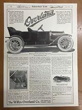 1911 Overland Newspaper Magazine Sales Advertising Page