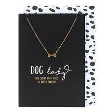 Collar de Regalo de Cumpleaños Tarjeta &, Regalo Para Perro Amante, oro hueso Collar Negro Tarjeta