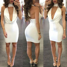 Fashion Women Bandage Bodycon Sleeveless Club Evening Party Short Mini Dress