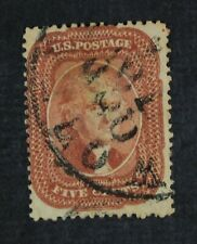CKStamps: US Stamps Collection Scott#27 5c Jefferson Used Tiny Thin CV$1450