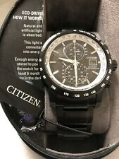 Citizen AT8175-58E Eco-Drive World Time Atomic Radio Controlled Men's Watch NWT