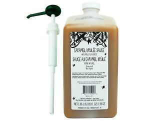 Starbucks Authentic Caramel Brulee Sauce, 63oz with Pump - Best By 2/16/2021