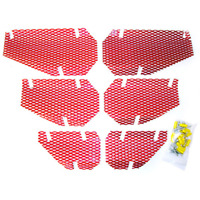 Screen Kit For 1998 Arctic Cat Jag 340 Deluxe Snowmobile Dudeck A-10 CANDY RED