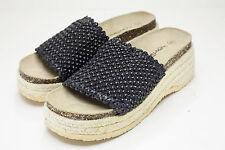 Butterflies 8 Black Platform Sandals Women's