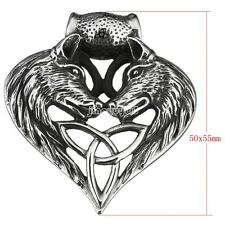 Stainless Steel Heart Wolf Wild Animal Pendant Jewelry Making Necklace Bangles