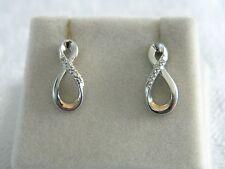 Clogau Silver & 9ct Welsh Gold Eternity Diamond Drop Earrings RRP £219.00