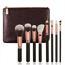 8Pcs Blending Brush Full Professional Makeup Brushes  + Leather Bag