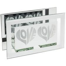 Love Heart Double Tea Light Holder Gift Sparkle 61492