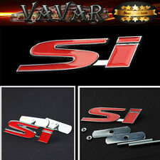Red SI Logo 3D Metal Racing Front Hood Car Grille Grill Badge Emblem New