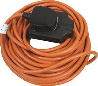 Masterplug 13 Amp 1 Gang 10M Outdoor Garden Mains Extension Lead BOG10O Orange
