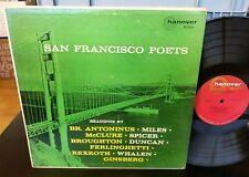 SAN FRANCISCO (Beat) POETS ORIGINAL HANOVER M 5001 LP GINSBERG FERLINGHETTI LP