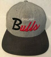 Mitchell & Ness NBA Chicago Bulls Gray Snapback Hat Wool Grey