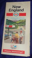 BS716 Vtg Esso Oil Co. Road Map New England 1969
