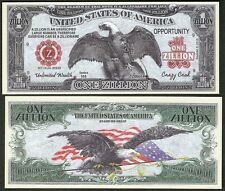Crazy Cash Eagle Zillion Dollar Bill Collectible Fake Funny Money Novelty Note