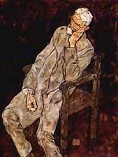 Egon Schiele retrato Johan daña viejo maestro Arte Pintura Impresión Cartel 828OMB