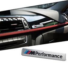 NUOVO M Sport Performance Interni Auto Argento 3D Sticker Badge-Argento