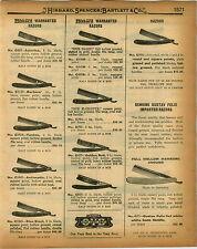 1926 PAPER AD Gustav Felix Germany Straight Razor White Bone Karbona Boker Injun