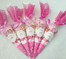 20 X X Pink Hen Party Pre Filled Sweet Cones Personalised