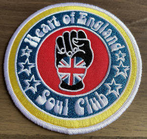 HEART OF ENGLAND SOUL CLUB - New Iron On / Sew On Patch Northern Soul Scene