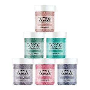 Set of 6 WOW Embossing Glitter Powders – Winter Sparkle New