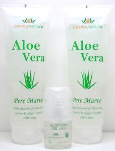 Pere Marve Canaria Set Aloe Vera Gel 100% 2 x 250 ml & 30 ml Pump-Spender
