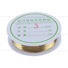 New DIY Silver Gold Jewelry Craft Beading Copper Wire Finding Making 0.3-0.8mm