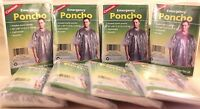 "8 EMERGENCY PONCHO, HOODED, 50""X 80"" LIGHTWEIGHT, REUSABLE, ONE SIZE FITS ALL!!"