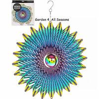 "12""/30cm ORBIT BLOWOUT Stainless Steel Wind Spinner Sun Catcher Hook Garden Gift"