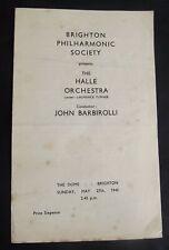 Vintage Concert Programme: Brighton Philharmonic Society, The Dome, 1945