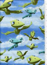 ~ DINOSAUR TRAIN FLYING PTERANODONS ~ fabric  bty tiny shiny don mrs pteranodon