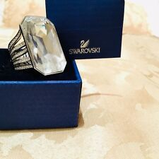 Amazing Swarovski Rhodium Plated Clear Crystal Ring With Original Packaging