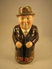 "Royal Doulton Very Rare 5.5"" Cliff Cornell Toby Jug Dark Brown Suit"