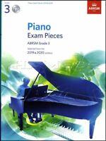 ABRSM Piano Exam Pieces 2019 2020 Syllabus Grade 3 Sheet Music Book and CD