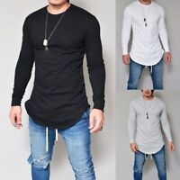 Men's Slim Fit O Neck Long Sleeve Muscle Tee Shirts Casual T-shirt Tops Blouse