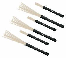 3 Paar Jazz Besen Drum Sticks Nylon Brushes Schlagzeugbesen Snare Percussion Neu