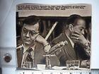 Vintage AP Wire Press Lasr Photo 1974 Watergate Sen Daniel Inouye Sen J Montoya