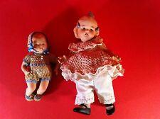 JEANNIE DI MAURO DOLL SET ELIZABETH GIRL PINK DRESS BABY BLUE VINTAGE PORCELAIN
