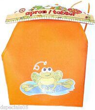 Backyard pour Enfant 50.8cm Tablier Orange avec Grenouille Neuf avec Étiquettes