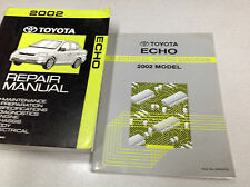 2002 TOYOTA ECHO Service Repair Shop Workshop Manual Set W Wiring Diagram OEM
