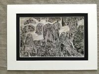Vintage Japanese Print Hitoshi Komatsu Rocky Mountains Nihonga Contemporary Art