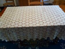 Antique Crocheted Tablecloth