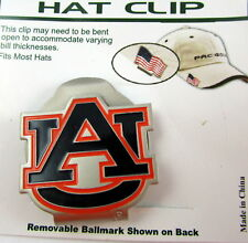 PAC Golf Hatclip w/ Ballmark Ball MarkBallmarker NCAA Auburn Tigers White