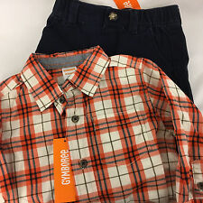 Gymboree Outfit Boys Size 18-24 Months 2T New with Tags Plaid Shirt & Pant NWT