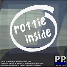 1 x Rottie inside-window, Auto, Furgone, autoadesivo, Firmare, Adesivo, CANE, PET, su, Board, piombo