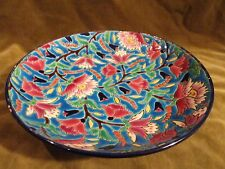 coupe emaux de longwy décor floral 5685 (longwy enamelled bowl)