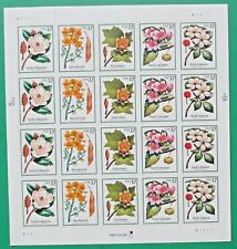 One (1) Sheet of 20 of FLOWERING TREES 32¢ US Postage Stamps. Scott # 3193-3197