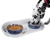 Petmaker Non Skid Dish Pet Bowl Dog Cat Food Tray Non Slip 21 x 10 Inches