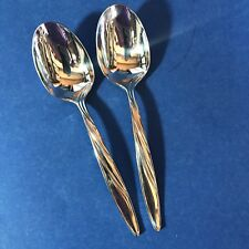 Mikasa LATITUDES Stainless Steel Lot of 2 Oval Soup Spoons 18 8